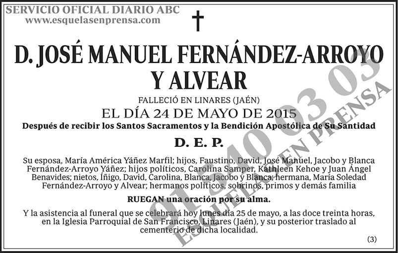José Manuel Fernández-Arroyo y Alvear